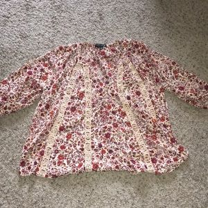 Living Doll 1X Top with Floral Design